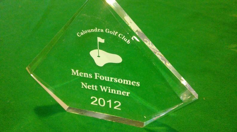 Golf Trophy Acrylic